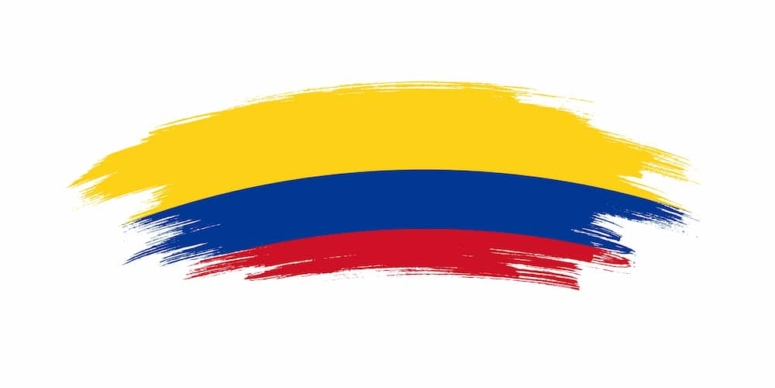 bandera amarilla azul y roja