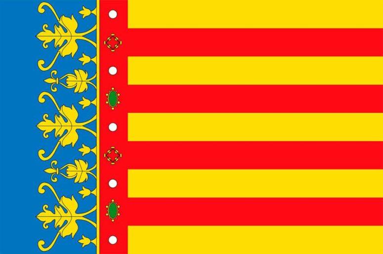 Historia de la bandera de la Comunidad Valenciana y sus provincias