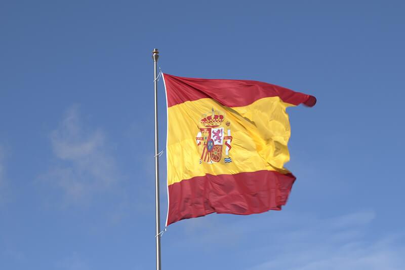 Bandera de España de 25 metros en Valdebebas