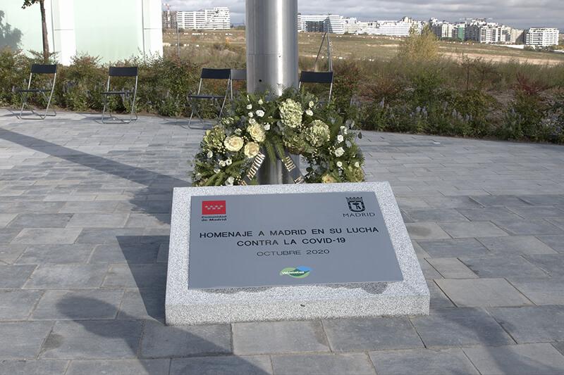 Homenaje a Madrid en su lucha contra la COVID-19