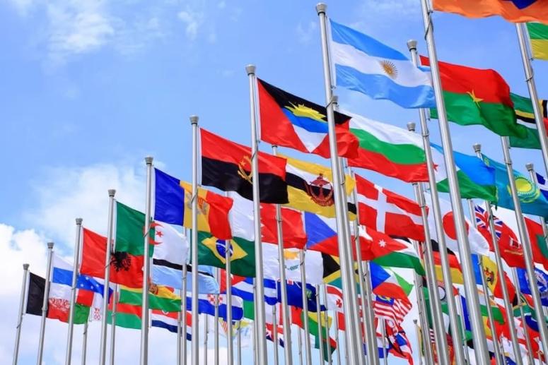 Banderas de países por colores