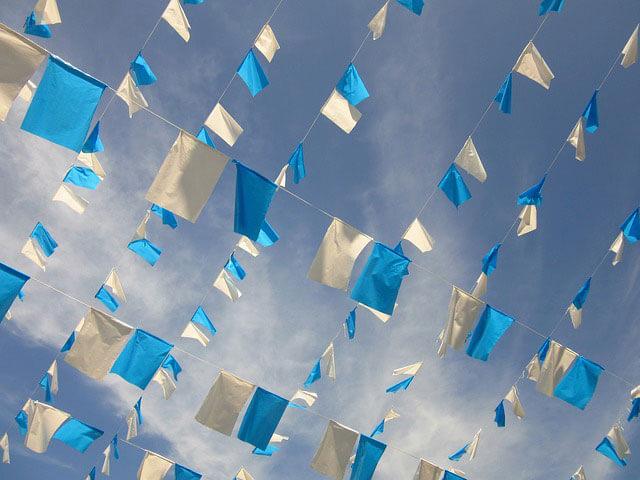 Las banderas de publicidad y su uso en los eventos